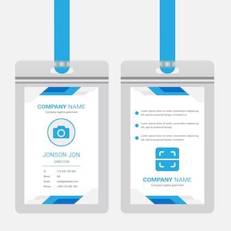 Szablon projektu karty identyfikacyjnej biura korporacyjnego