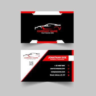 Szablon projektu karty samochodowej