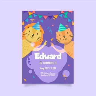 Szablon projektu karty urodzinowej