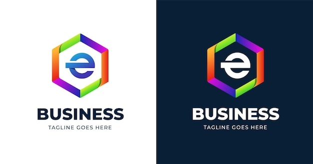 Szablon Projektu Kolorowe Logo Litery E Premium Wektorów