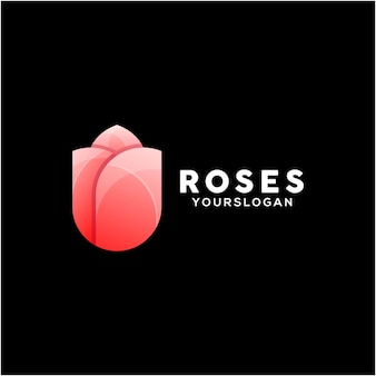 Szablon projektu kolorowe logo róż