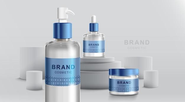 Szablon projektu kosmetyków i opakowań