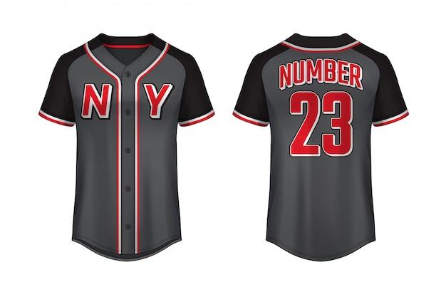 Szablon projektu koszulki baseballowej