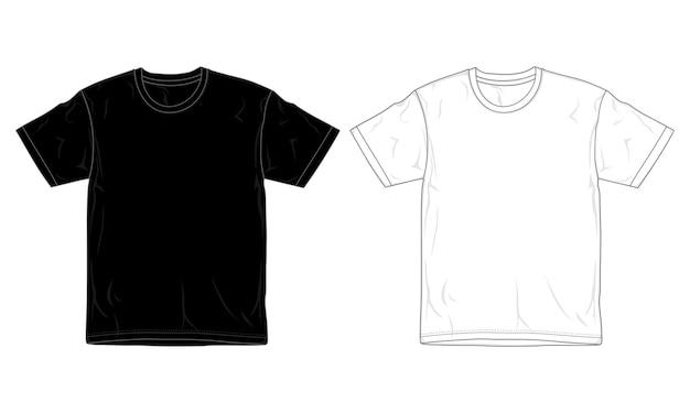 Szablon projektu koszulki czarno-biały,