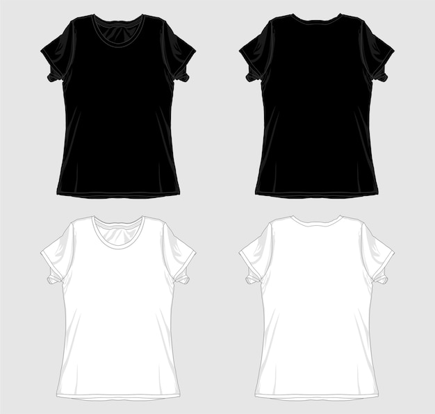Szablon projektu koszulki dla kobiet, dziewcząt, dziewcząt i pań