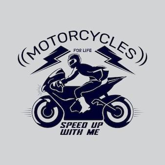 Szablon projektu koszulki motocyklowej