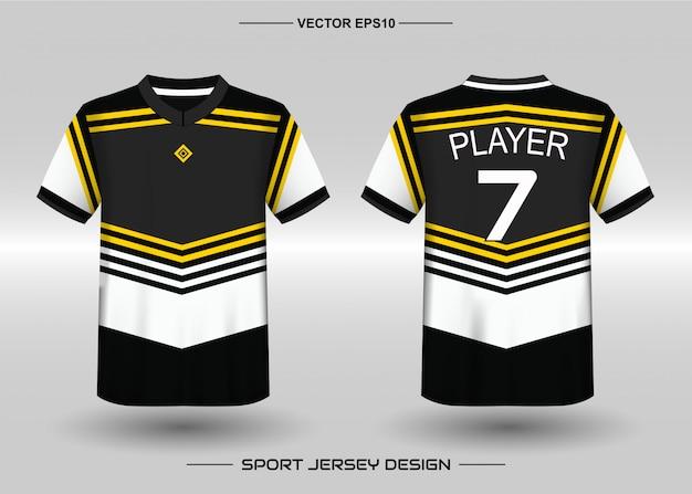 Szablon projektu koszulki sportowe dla mundurów drużynowych