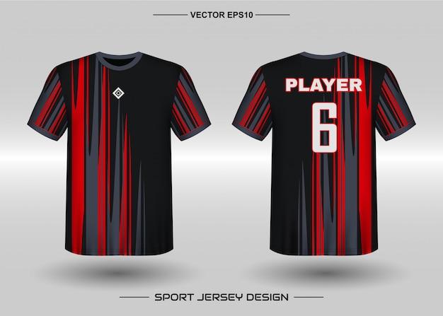 Szablon projektu koszulki sportowe dla mundurów drużyny piłkarskiej