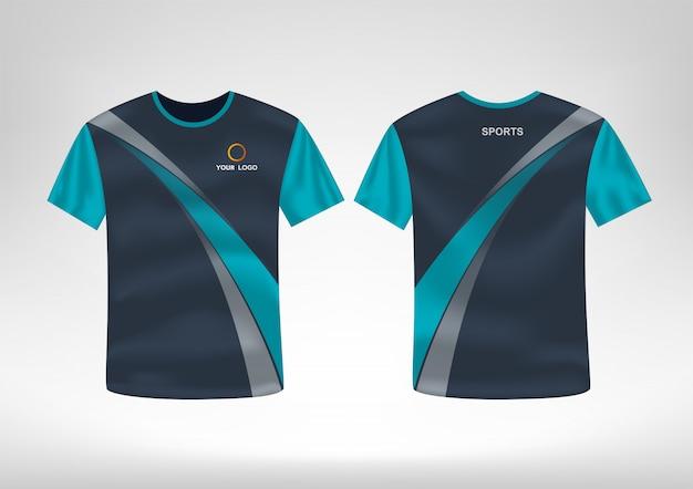 Szablon projektu koszulki sportowe