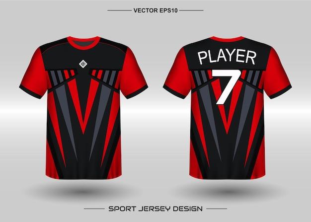 Szablon projektu koszulki sportowej dla drużyny piłkarskiej