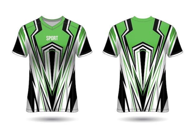 Szablon projektu koszulki sportowej dla strojów zespołowych