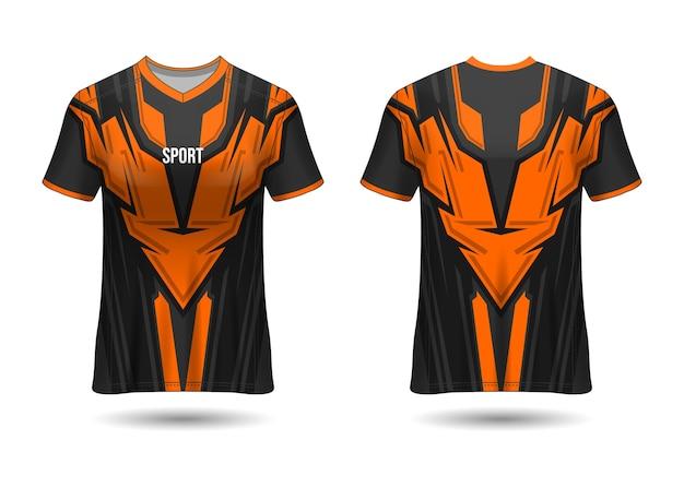 Szablon projektu koszulki sportowej dla zespołu mundury wektor
