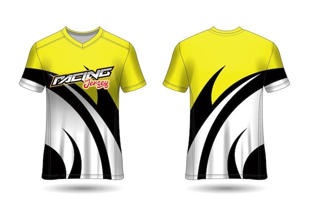 Szablon projektu koszulki sportowej zespołu