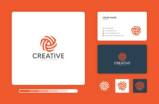 Szablon projektu kreatywnego logo