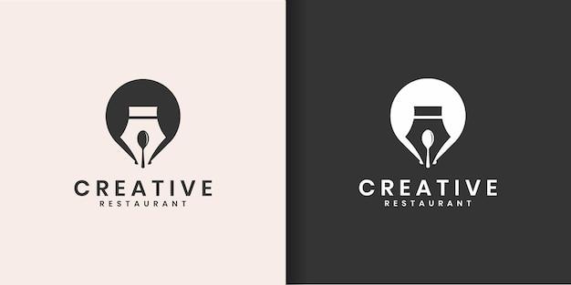 Szablon projektu kreatywnego logo.