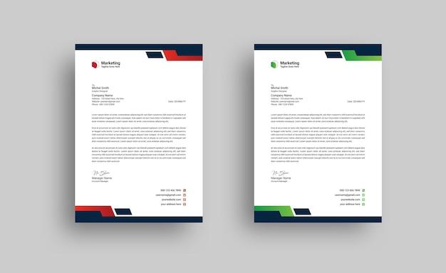 Szablon projektu kreatywnego papieru firmowego nowoczesnej firmy