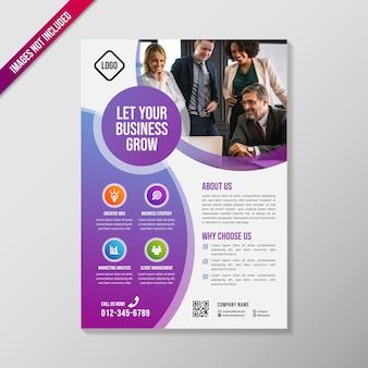 Szablon projektu kreatywnych biznes broszura
