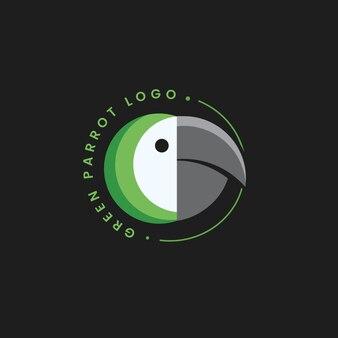 Szablon projektu logo abstrakcyjnego logo papugi