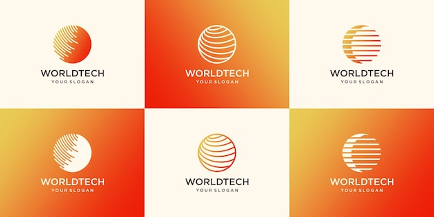 Szablon projektu logo cyfrowego świata
