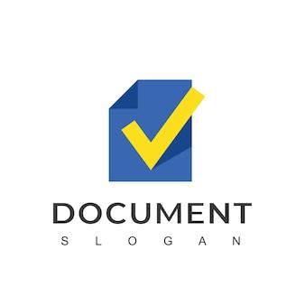 Szablon projektu logo dokumentu papierowego