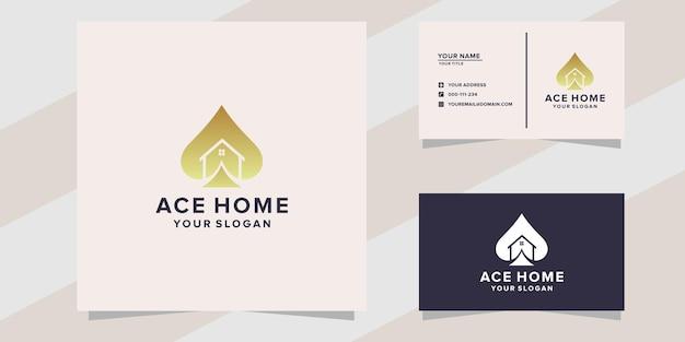 Szablon projektu logo domu ace