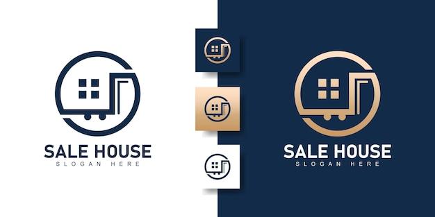Szablon projektu logo domu sprzedaży