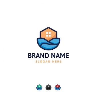 Szablon projektu logo domu