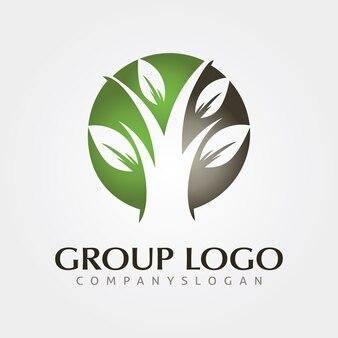 Szablon projektu logo drzewa dla biznesu