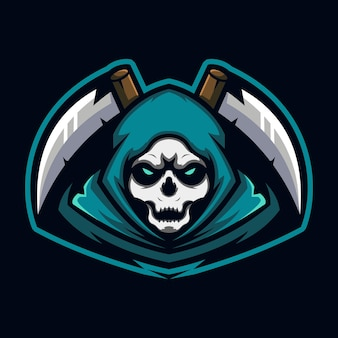 Szablon projektu logo e-sportu żniwiarza