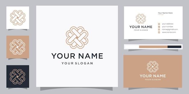 Szablon projektu logo elegancki ornament miłości