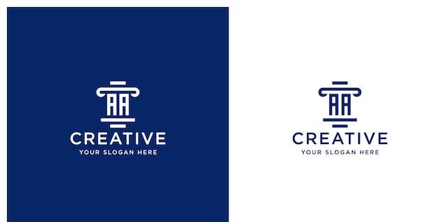 Szablon projektu logo firmy prawniczej inicjały
