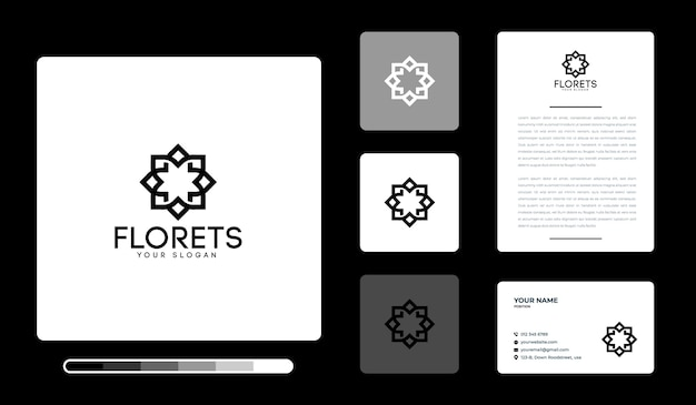 Szablon projektu logo florets