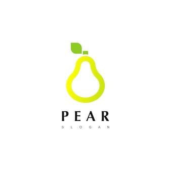 Szablon projektu logo gruszka