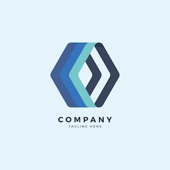 Szablon projektu logo heksagonalnym