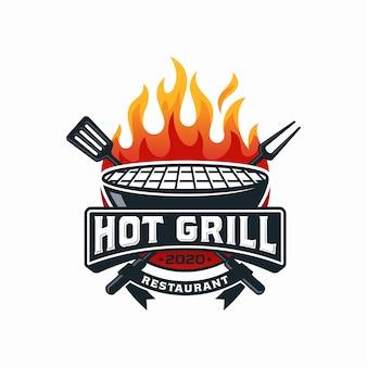 Szablon projektu logo hot grill