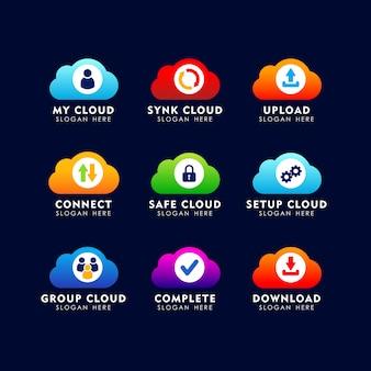Szablon projektu logo ikona chmury