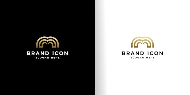 Szablon projektu logo inicjały m