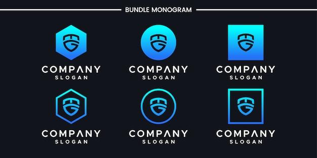 Szablon projektu logo inicjały mg.