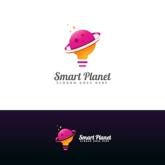 Szablon projektu logo inteligentnej planety