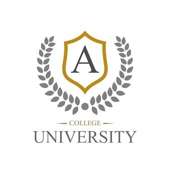 Szablon projektu logo kampusu, kolaż i uniwersytet