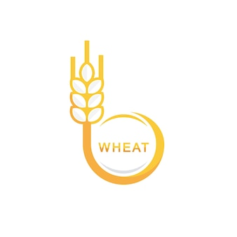 Szablon projektu logo koło pszenicy