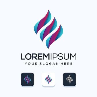 Szablon projektu logo kolorowe litery e