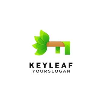 Szablon projektu logo kolorowy liść klucza