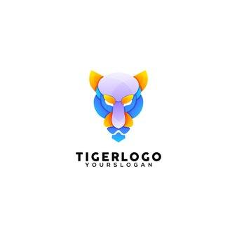 Szablon projektu logo kolorowy tygrys