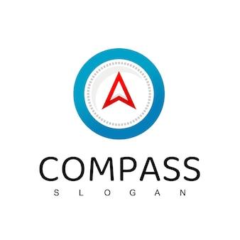 Szablon projektu logo kompasu, przewodnik turystyczny, logo nawigacyjne