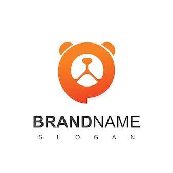 Szablon projektu logo konsultacji dla zwierząt domowych symbol szpitala dla zwierząt domowych