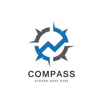 Szablon projektu logo kreatywnego kompasu