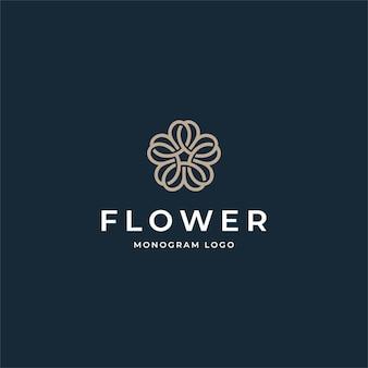 Szablon projektu logo kreatywnych kwiat
