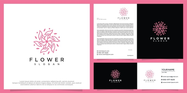 Szablon projektu logo kwiat piękna