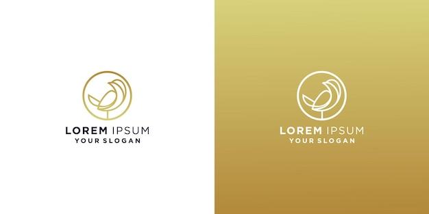 Szablon projektu logo linii ptaka